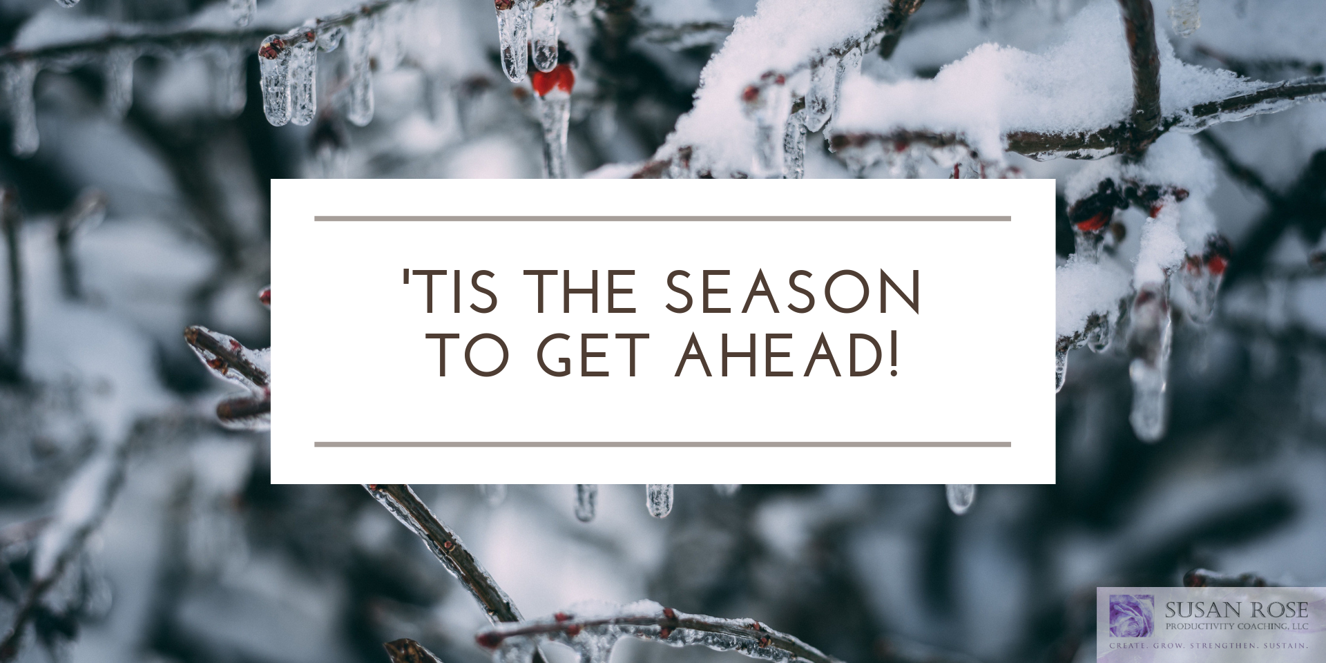 Tis the Season to Get Ahead!
